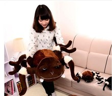 huge plush whimsy spider toy big brown spider doll creative spider doll about 75x120cm