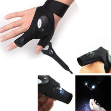 NEW fishing Gloves LED Light Finger Lighting Auto Repair Outdoor Night Fishing Artifact outdoor tackle camping pesca accessories