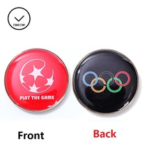 Football Referee Selected Edges Toss Coin Badminton Points Edge Detector Soccer Table Tennis Choice side Double Side(China)