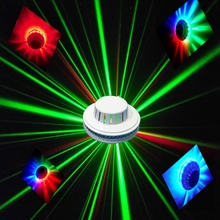 8W UFO Rotating RGB LED Stage lights sound activated colorful Sunflower Laser Stage lights for DJ KTV Party Home Wedding Club