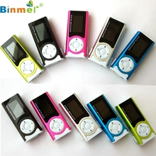 Binmer MP3 Media Player shiny Mini USB Clip LCD Screen Support 16GB Micro SD 0117