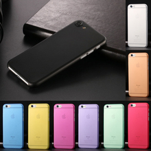 Ultra Thin Translucent  Matte Soft  Case Cover for iPhone 6 6S 6plus 6s plus 7 7 plus 4.7'' 5.5'' 10 Colors to Choose
