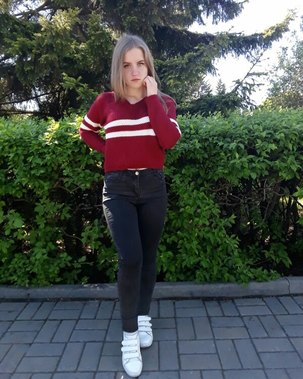4 Colors!Spring Autumn Women Sweaters Pullovers V-neck Crop Tops Striped Long Sleeve Knitted Sweater Roupas Femininas T4N510 3
