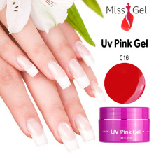 Professional Nail Art  Nail Gel Manufacturer 6pcs UV Pink Builder Gel Pink Color gel