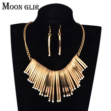Gold silver Color Statement necklaces 2017 New design uk Nigerian Wedding bridal African Jewelry Set for women(China)