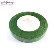 (it can be wrapped on wire) Simulation Paper Flower Diameter Dark Green Fondant Sugar Paste Flower Stamen Cake Decorating Tool