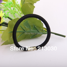 Girls Hair Band High quality soft Cotton Elastic Hair Bands Hair Rope Black Korean Style Hair Strings(China)