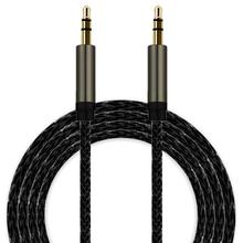 2017 hot sale 1pc 100cm 3.5mm Jack Auxiliary Cable Audio Cable Male To Male Flat Aux Cable Phone to connect with audio device