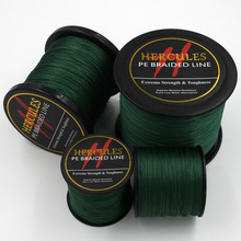 4 Strands 100M 300M 500M 1000M 1500M 2000M PE Green Braided Fishing Line Sea Saltwater Fishing Weave Extreme SuperPower Hercules(China)