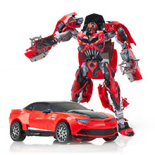 New Plastic+ Alloy Metal 4 Toys Anime Transformation Robot CarModel Brinquedos Action Figures Classic Toys Boys Gifts Juguetes(China)