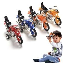 Kids Toys Hotwheels Diecasts Toy Vehicles Mini Motorcycle Cute Pull Back Cars Children Boys Gifts Random Color @Z281(China)