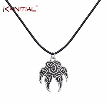 Kinitial 1Pcs Antique Necklace Veles Stamp Slavic Wolf Foot Small Sign Claw Charm Lewis Fashion Jewelry Pendant Necklace