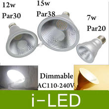 PAR20 PAR30 PAR38 E27 LED AC110V-240V 7W 12W 15W Dimmable LED Ceiling Lamp Spot Lights Bulb Nature White 4000K CE&ROHS UL