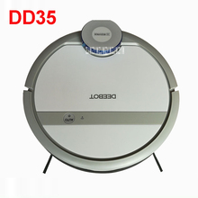 DD35 110-220V Mini Robot Vacuum Cleaner for Home Automatic Sweeping Dust Sterilize Smart Planned Mobile App 300ML Water tank(China)