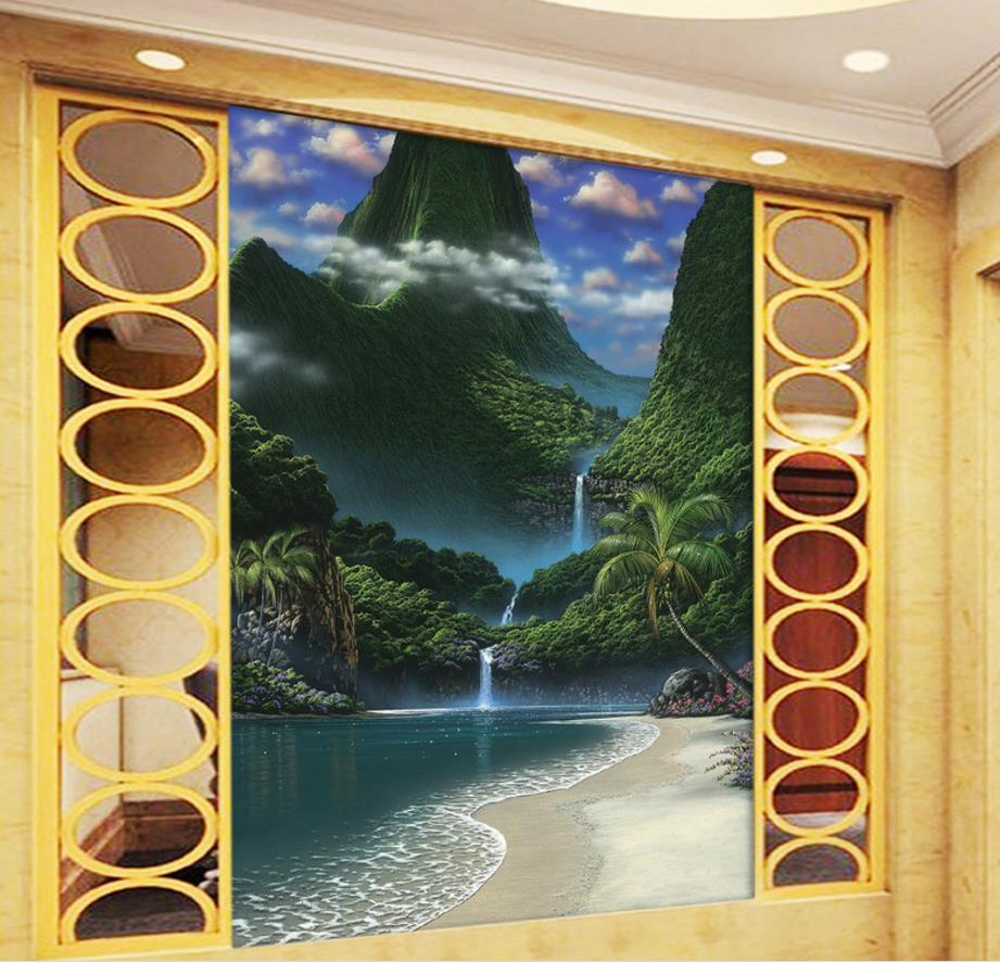 Photo Wallpaper Murals Waterfall 3D Wallpaper Background Wallpaper For Walls 3 D Living Room Bedroom Background Wall<br>