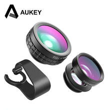 Buy AUKEY Camera Lens Phone 3-in-1 Optic 180 Degree Fisheye Lens + 110 Degree Wide Angle + 10x Macro Lens Clip-On Phone Lens for $10.99 in AliExpress store