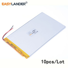 10pcs /Lot 3.7 V 5400 mah 3790140 lithium Li ion polymer rechargeable battery PAD DVD Naptop e-book video game IPAQ