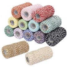 100m Cotton Bakers Twine String Cord Glass Bottle Gift Box Decor Craft 14 Colors