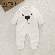 New Baby Winter Clothes Thickened Warm Infant Cartoon Bear Rompers Kids Toddler Girls Boys Jumpsuit Baby Clothes Bebe Clothing