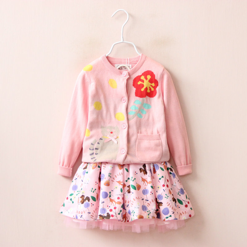 New Fashion Girls clothing set autumn sweaters + skirts children outfits kids clothes vestidos high quality<br><br>Aliexpress