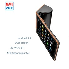 "7""touch screen ordering online pos with 3g wifi printer scanner nfc free SDK"