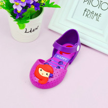 2017 new 14-16.5 centimeters Brazilian mermaid girl sandals jelly baby girl cartoon princess slippers girl garden shoes summer w(China)