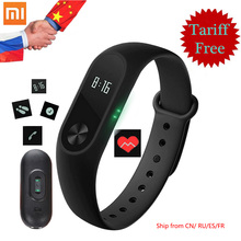 Original Xiaomi Mi Band 2 Smart Bracelet Fitness Tracker OLED Screen Heart Rate Monitor Mi Band 2 Clock Smart Wristband in stock(China)
