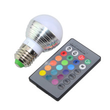 New LED Bulb E14 E27 RGB AC 85-265V 3W Real Power Magical RGB Color Change With IR Remote for Home Garden Lighting(China)
