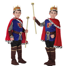 Free Shipping Kids Boys King Costume Halloween Christmas Masquerade Party Arabic Prince Fancy Dress Children Cosplay Clothes