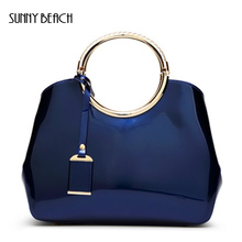 SUNNY BEACH Fashion Patent Leather Bag Crossbody Messenger Women Shoulder Bags High Quality Famous Brands bolsa feminina Handbag(China)