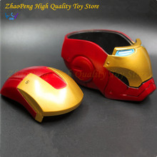new style Iron man MK3 statue helmet model Ashtray/Store content box Avengers 2 Anime iron kit Decoration Action Figure gift box(China)