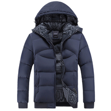 Winter Coat Men Casual Windbreaker Hooded Cotton Duck Jacket Mens Jackets And Coats Male Thick Warm Padded Overcoat High Quality