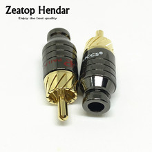 40Pcs Gold Plated Copper Paliccs RCA Male Plug Adapter Connector Fit 5MM Diameter RCA Cable Audio Plug(China)