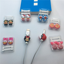 10pcs Cartoon Kawaii Cable Protector Charger USB Cable Winder For Apple IPhone5 5s 6 6s 7 plus Cable Protector(China)