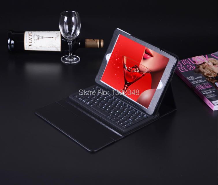 Ultra-Thin Bluetooth Wireless Silicone Keyboard with Protective Shell PU Case Cover for Apple iPad Air iPad air 2 iPad 5 ipad 6<br>