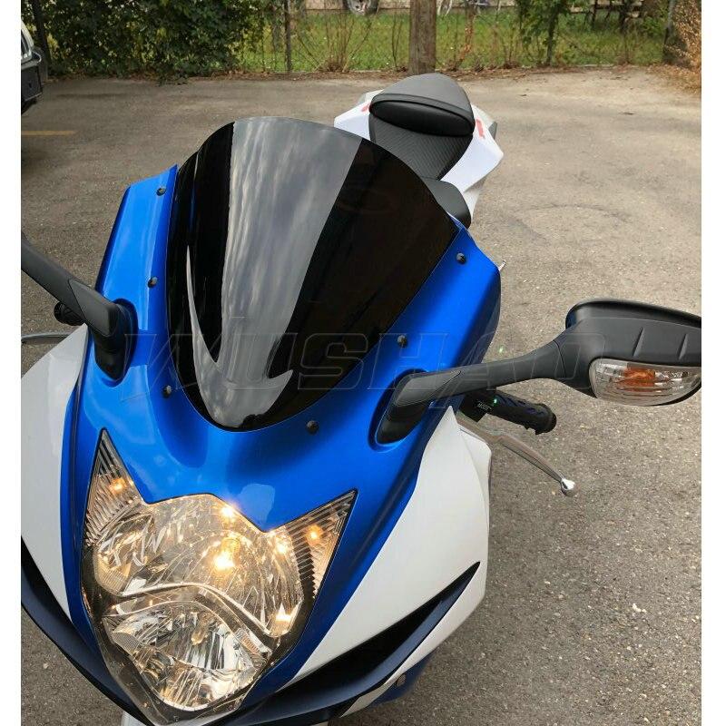 Motorcycle windshield For Suzuki GSXR 600 750 R K11 2011 2012 2013 2014 2015 2016 k11 Windshield WindScreen GSXR600 GSXR750 600R 750R Motorcycle Color : Black