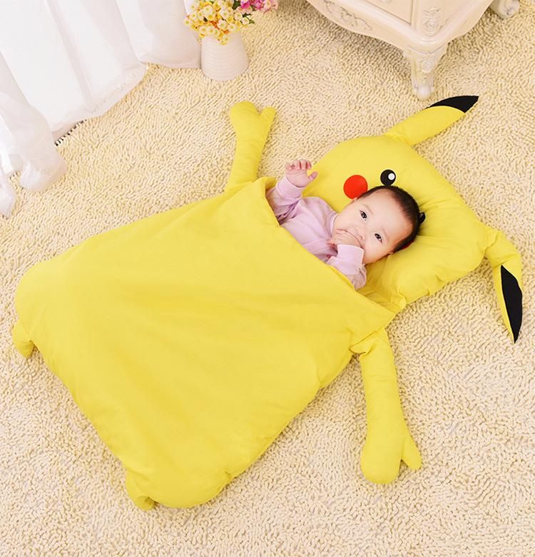 Blanket Sleeper Envelope Baby Sleeping Bag Winter Newborn with Legs Stroller Pikachu Sleepers Envelopes Kids Sleeping Bag<br>