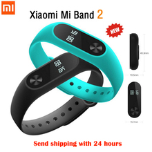 Original Xiaomi Mi Band 2 Smart Wristband Bracelet Heart Rate Fitness Touchpad LED Screen Display For iPhone 7 Bluetooth(China)