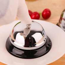 1Pcs Christmas Silver Color Desk Kitchen Hotel Counter Reception Restaurant Bar Ringer Call Bell Service Ring 8.5cm F2199(China)
