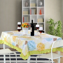 100%Cotton Tablecloth for Dinner Sign Style High Quality flange Cloth floral Style Decorative mother's fashion Table Cloth
