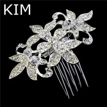Wedding accessories bride bridal metal hair comb acessories para cabelo noivas 2015 crystal hair clips