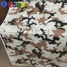Matte Finished Desert Camo Vinyl Car Wrap Sticker Foil Color Change Millitary Camouflage Film With Air Bubble Free 30m/roll