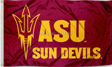 ASU Maroon Pitchfork Flag 150X90CM NCAA 3X5FT Banner 100D Polyester grommets custom009, free shipping(China)