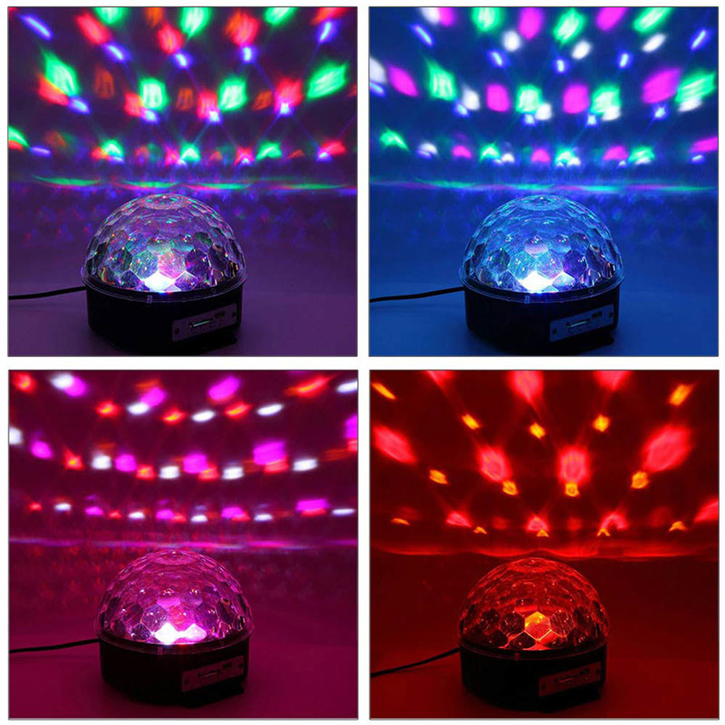 Litake Bluetooth Music Playing 6 Colors Changing Rotary Crystal Magic Ball LED Lamp Romantic Fairy Decorative Light<br>