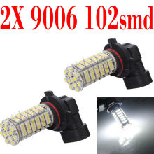 NEW 1 Pair 9005  9006 102-SMD LED 3528 Car Auto Head Light Pure White Bulb Lamp 6000k DC 12V