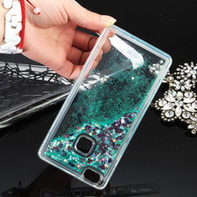 P9 P10 Plus Soft Back Case Dynamic Liquid Glitter Colorful Sand Quicksand TPU For Huawei P10 Lite P9 Lite 2017 transparent Cover(China)