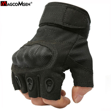 MAGCOMSEN Tactical Gloves Half Finger Army Combat Gloves Anti-skid Men Ripstop Exercise Gloves MOLLE Accessories AG-YWHX-008(China)