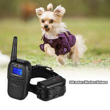 Dog Shock Training Collar Shock/Vibra/Beep/Lamp No Bark Collar 328yd Remote Waterproof Rechargeable for Large Medium Small Dog(China)