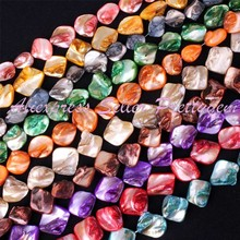 "8-10x11-18mm Freeform Shell Gem Stone Beads Spacer Strand 14"" For DIY Necklace Bracelet Jewelry Making,Wholesale Free Shipping"