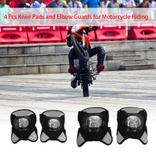 4 pcs Motorcycle Protection Cycling Elbow and Knee Pads Shin Guard Armors Set Motocross Protector Guards Racing Moto Gear Sport(China)